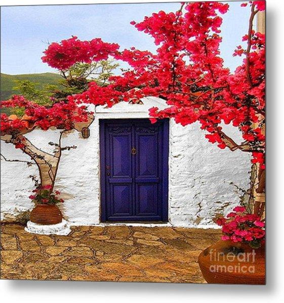 The Blue Door Metal Print