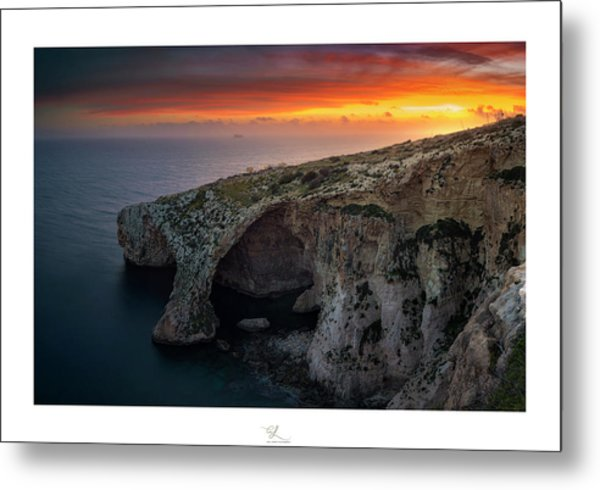 The Blue Grotto Metal Print