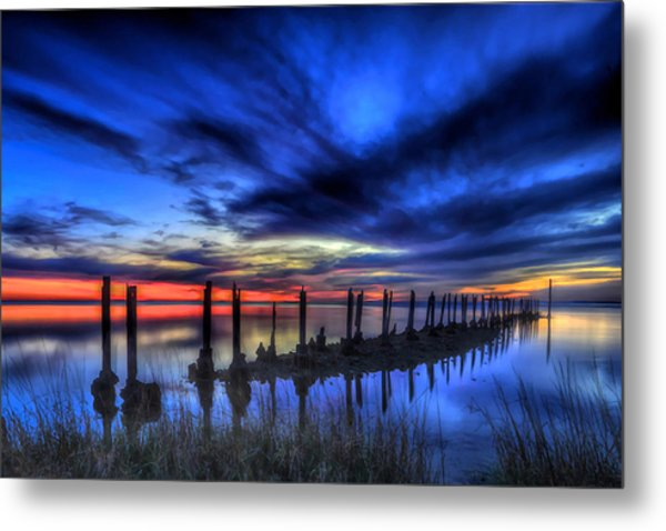 The Blue Hour Comes To St. Marks #1 Metal Print