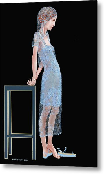 The Blue Outfit Metal Print