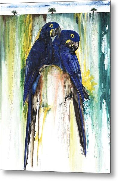 The Blue Parrots Metal Print