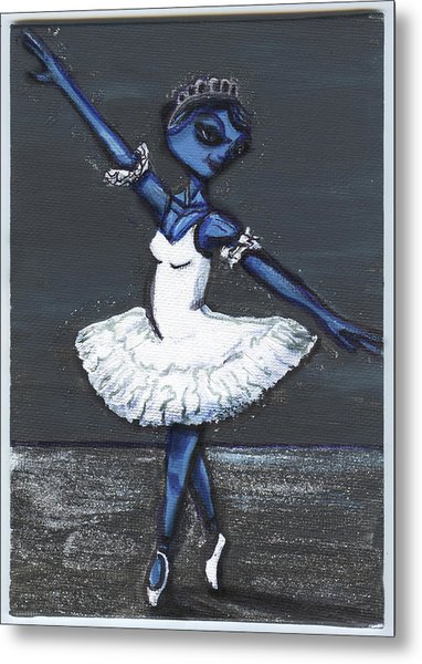 The Blue Swan Metal Print