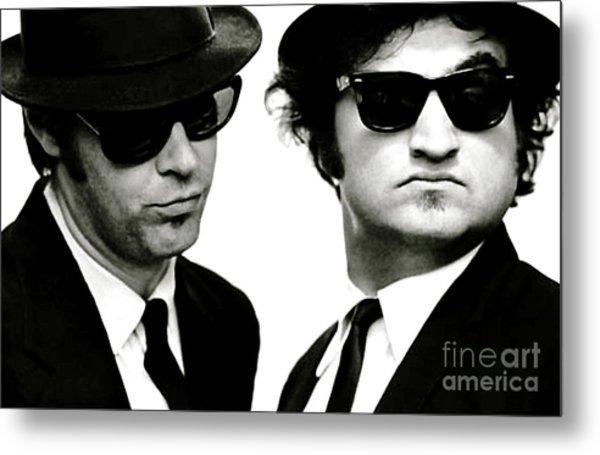 The Blues Brothers, John Belushi And Dan Aykroyd Metal Print