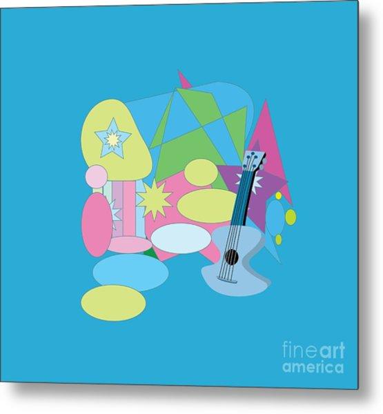 Metal Print featuring the digital art The Blues by Eleni Mac Synodinos