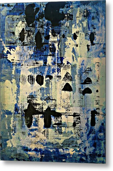 The Blues Abstract Metal Print
