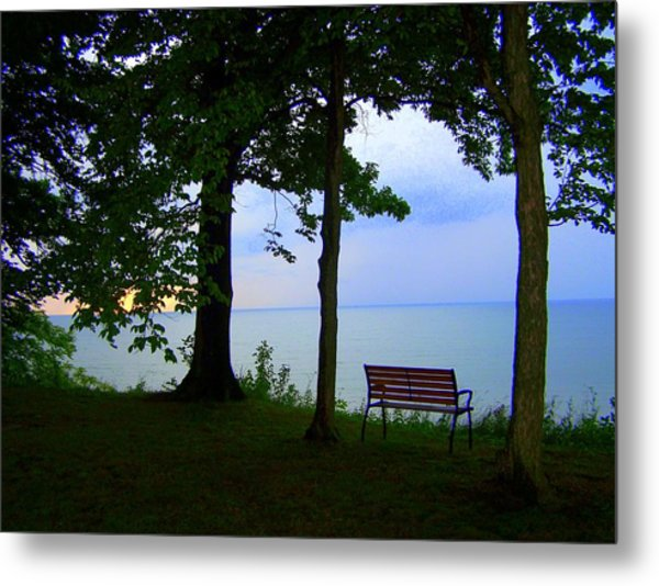 The Bluffs Bench Metal Print