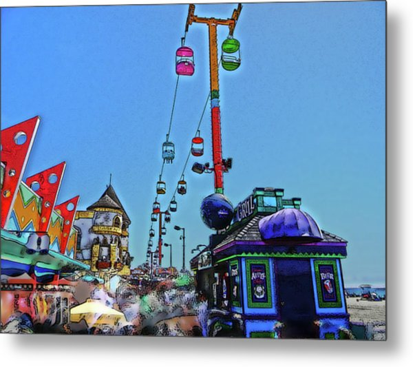 Metal Print featuring the photograph The Boardwalk by Pacific Northwest Imagery