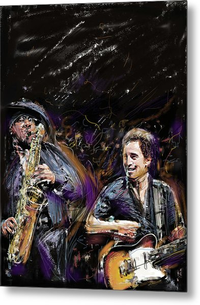 The Boss And The Big Man Metal Print