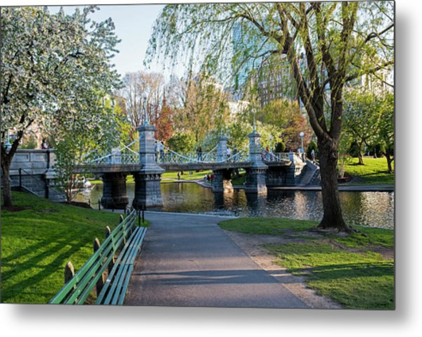 The Boston Public Garden In The Spring Boston Ma Metal Print