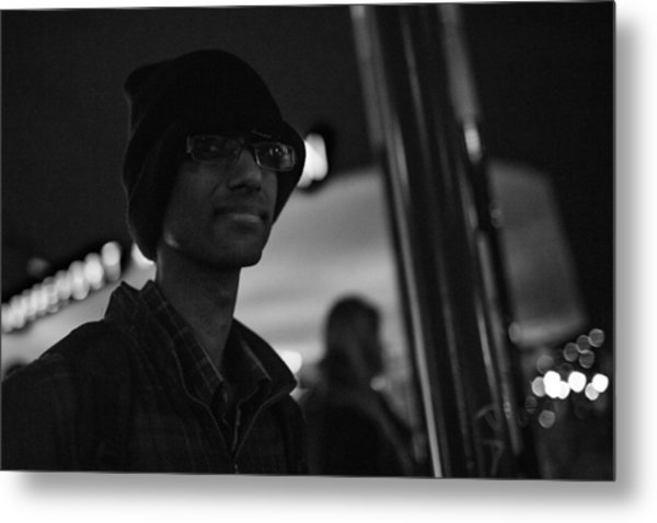 The Boy In The Dark Metal Print by The Man With a Hat