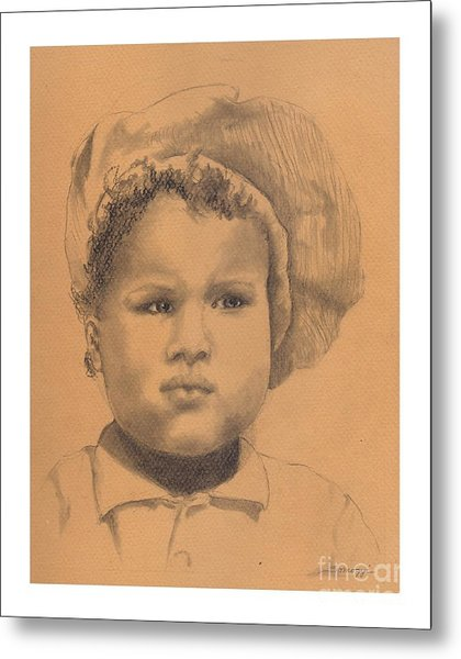 The Boy Who Hated Cheerios -- Portrait Of African-american Child Metal Print