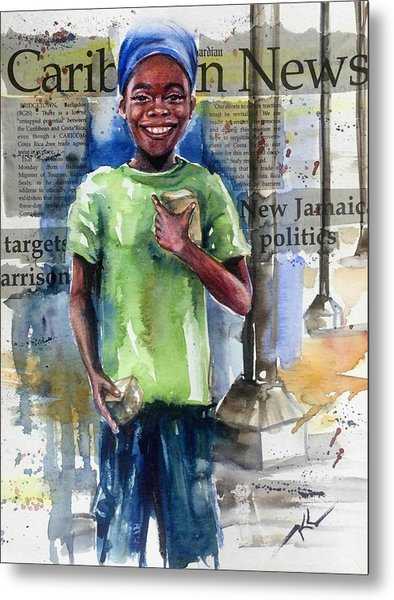 The Boy Who Sells Peanuts Metal Print
