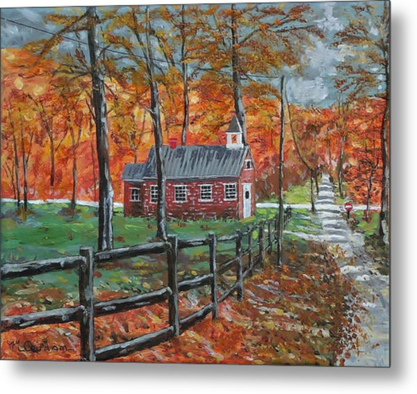 The Brick Country Schoolhouse Metal Print