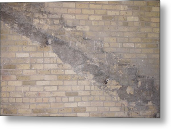 The Brick Wall-2 Metal Print by Janis Beauchamp