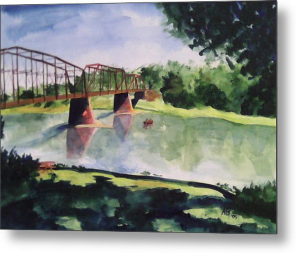 The Bridge At Ft. Benton Metal Print