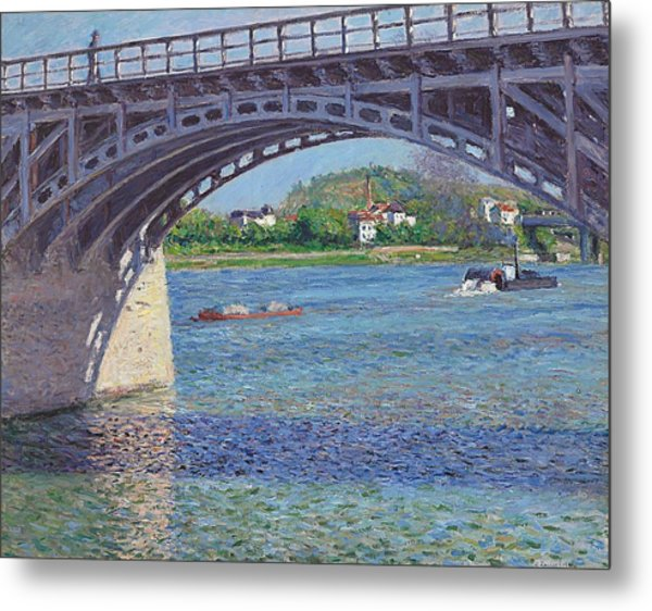 The Bridge At Argenteuil And The Seine Metal Print