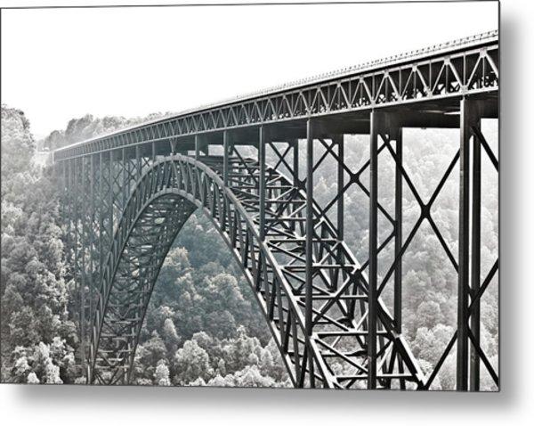 The Bridge B/w Metal Print