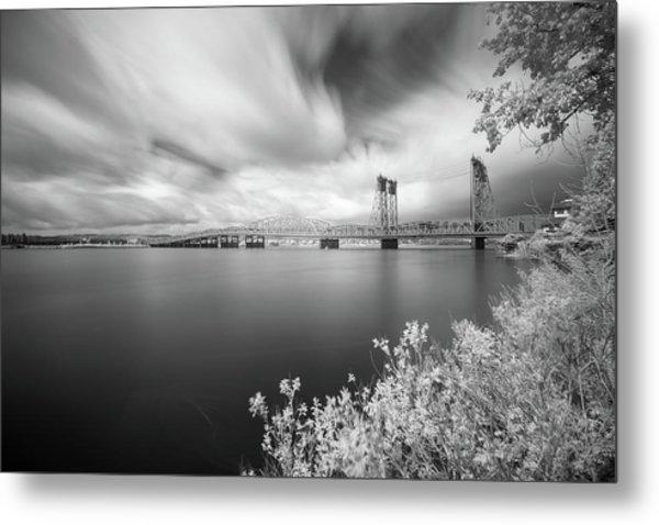 The Bridge Crosses Columbia River Metal Print