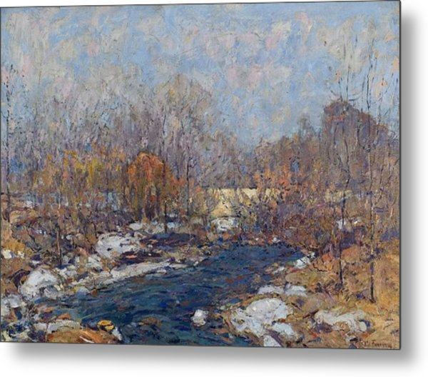 The Bridge  Garfield Park  By William J  Forsyth Metal Print