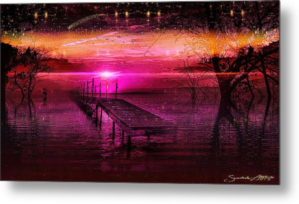 The Bridge Line Metal Print