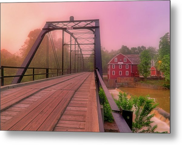 The Bridge To War Eagle Mill - Arkansas - Historic - Sunrise Metal Print