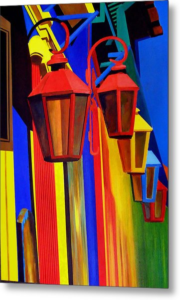 The Bright Lamps Of La Boca Metal Print by JoeRay Kelley