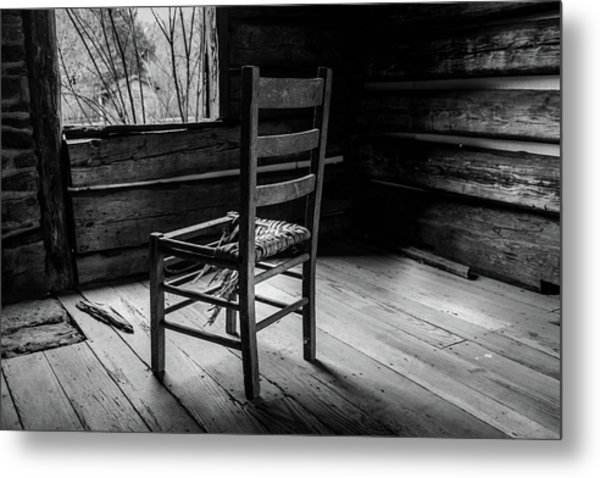 Metal Print featuring the photograph The Broken Chair by Doug Camara