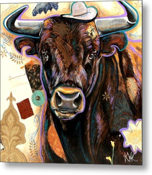 The Bull Metal Print