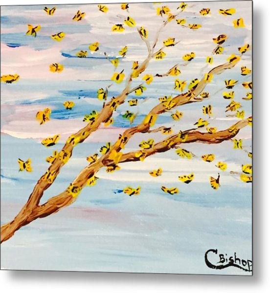 The Butterfly Tree Metal Print