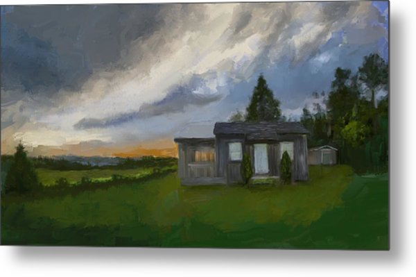 The Cabin On The Hill Metal Print