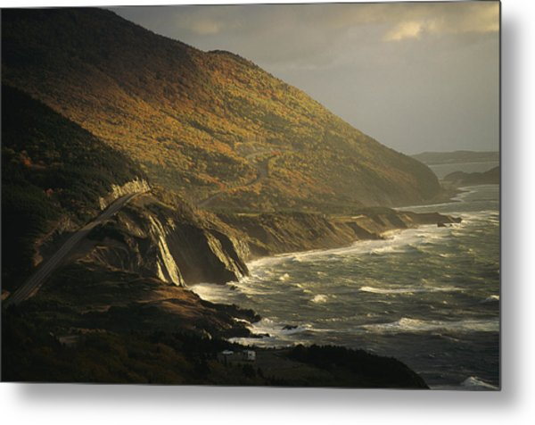 The Cabot Trail Winds Its Way Metal Print