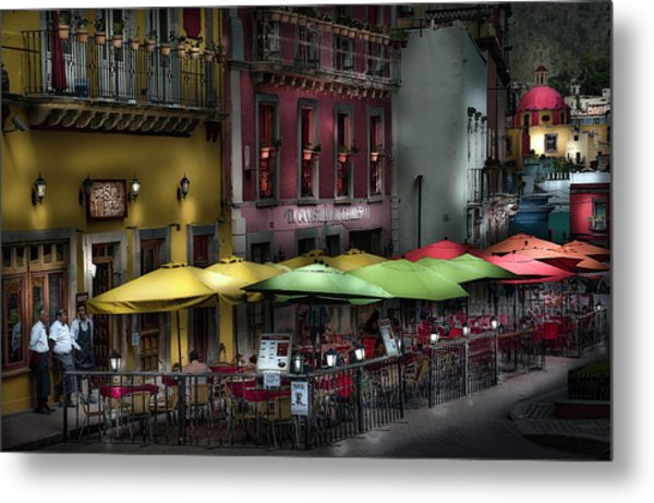 The Cafe At Night Metal Print