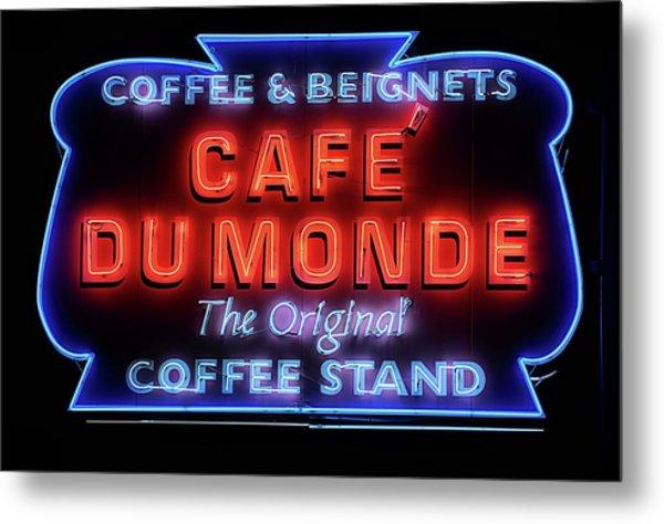 The Cafe Du Monde Metal Print by JC Findley