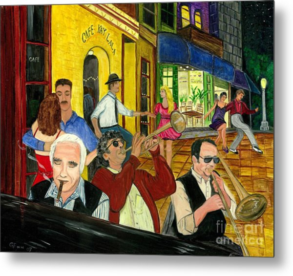 The Cafe Metal Print
