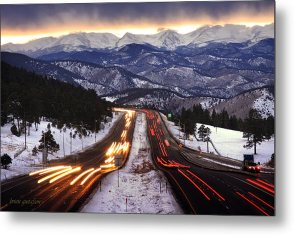 The Call Of The Mountains Metal Print