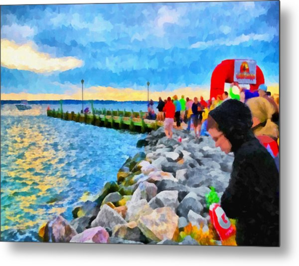 Metal Print featuring the digital art The Calm Before The Race by Digital Photographic Arts