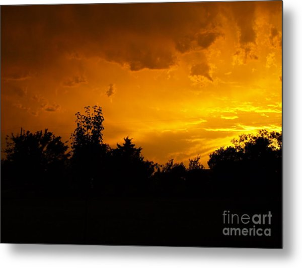 The Calm Before The Storm Metal Print by Gail Finger
