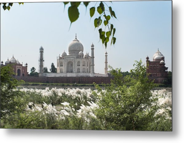 The Calm Behind The Taj Mahal Metal Print
