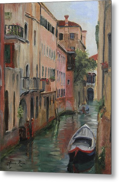 The Canal Less Travelled Metal Print by Anna Rose Bain