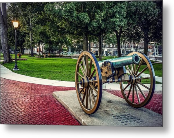The Cannon In The Park Metal Print