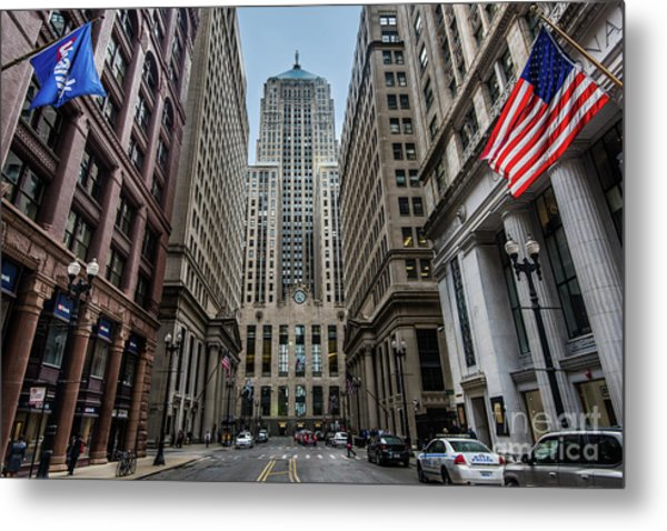 The Canyon In The Financial District Metal Print