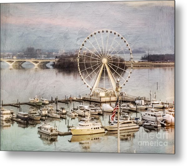 The Capital Wheel At National Harbor Metal Print