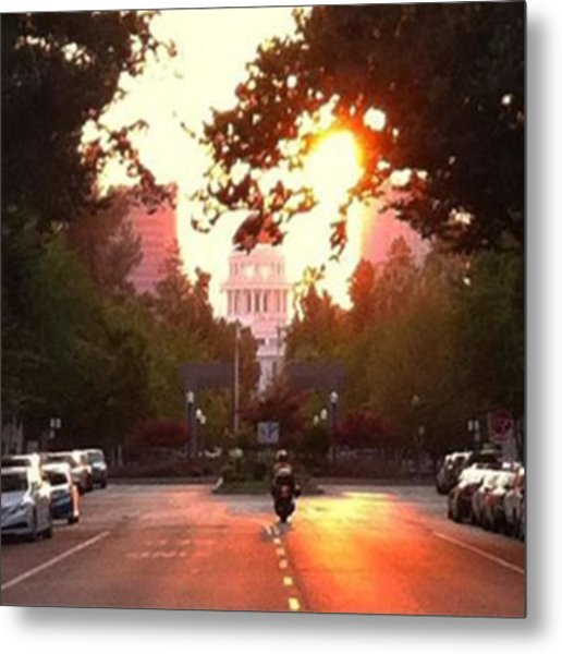 The Capitol In #sacramento #california Metal Print