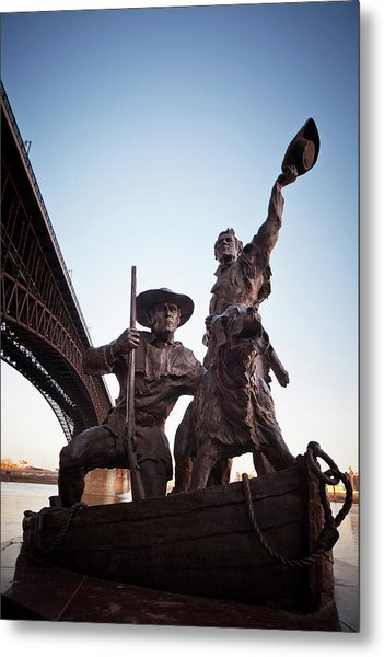 Metal Print featuring the photograph The Captain Returns by David Coblitz