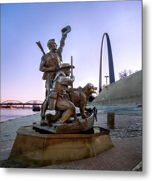 Metal Print featuring the photograph The Captain Returns With Arch by David Coblitz
