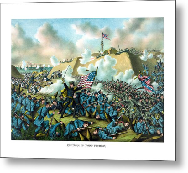 The Capture Of Fort Fisher Metal Print