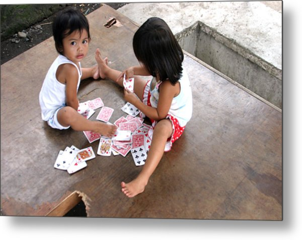 The Card Players 5 Metal Print by Jez C Self