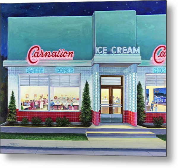 The Carnation Ice Cream Shop Metal Print