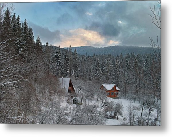 The Carpathian Chalet. Sheshory, 2010. Metal Print