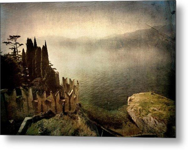 The Castle On The Lake. Malcesine Metal Print